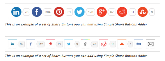 Simple Share Buttons Adderのサンプル