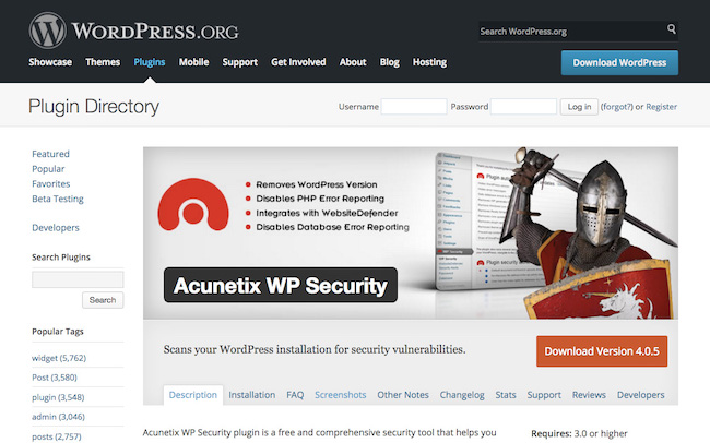 Acunetix WP Security