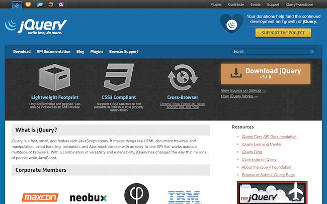 jQuery公式サイト