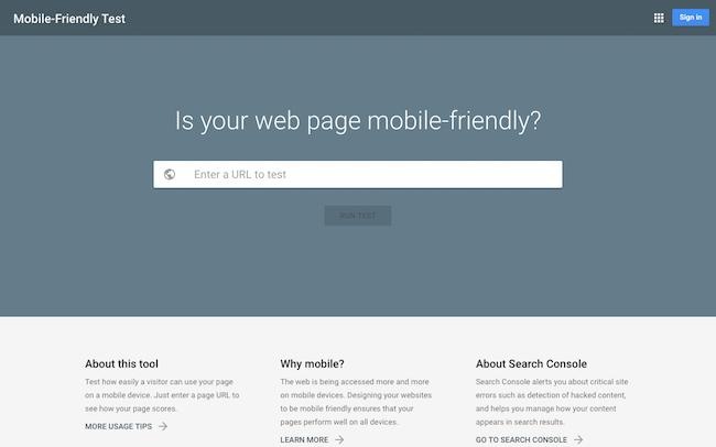 モバイル フレンドリー テスト - Google Search Console