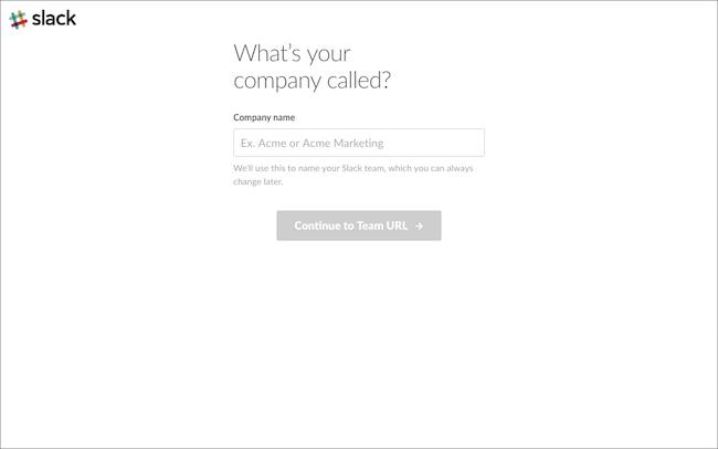 「Continue to Team URL」ボタンをクリック