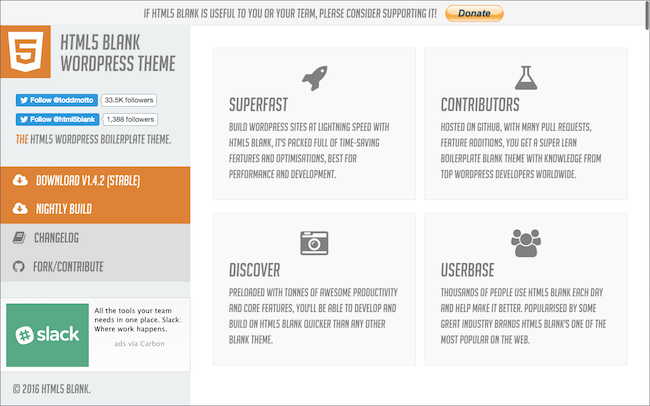 HTML5 Blank WordPress Theme