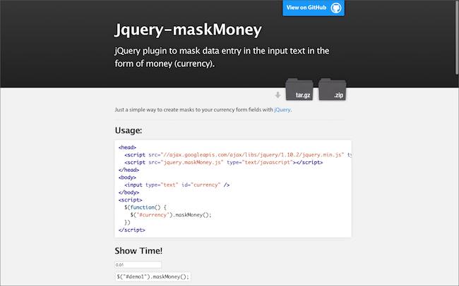 Jquery-maskMoney