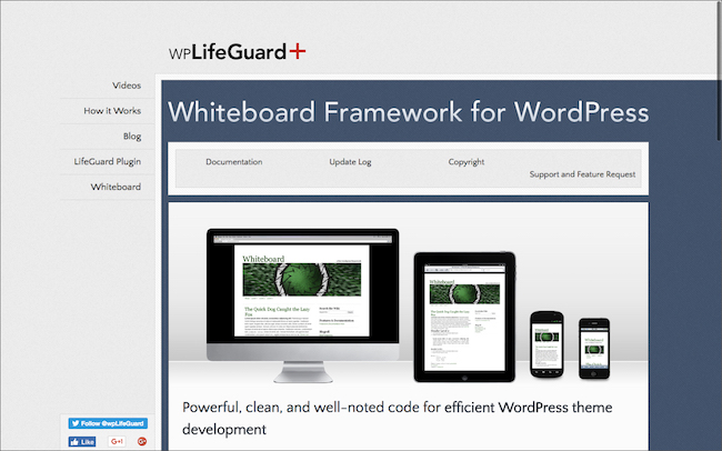 Whiteboard Framework for WordPress