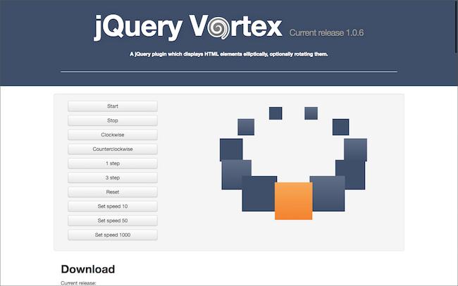 jQuery Vortex