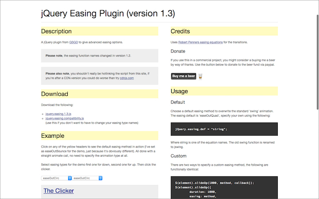 jQuery Easing Plugin