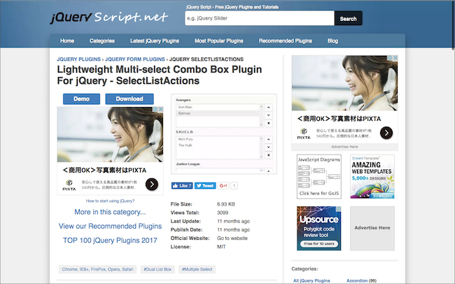Lightweight Multi-select Combo Box Plugin For jQuery - SelectListActions
